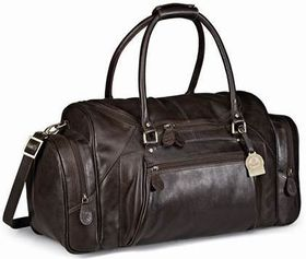 Gary Player Genuine Leather Weekend Bag - Brown