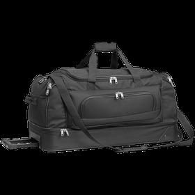 Eco Double Decker Trolley Travel Bag - Black