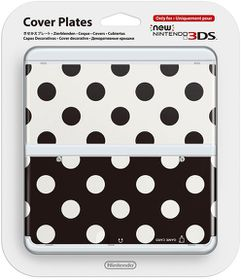 Nintendo - New Nintendo 3DS Coverplate - Black And White Dots (3DS)