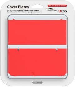 Nintendo - New Nintendo 3DS Coverplate - Red (3DS)