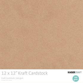 Kaisercraft Kraft Cardstock Pack (20 Sheets)