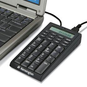 Kensington Black 19 Normal Keys USB Mini Notebook Keypad with USB HUB (Calculator)