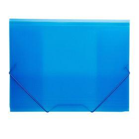 Meeco Foolscap PVC Elastic Carry Folder - Blue