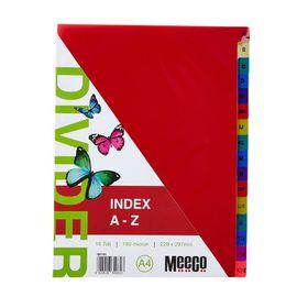 Meeco Executive A4 16 Tab (A-Z) Multi Colour Indexes