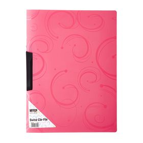 Meeco A4 Creative Colour Swing Clip File - Red
