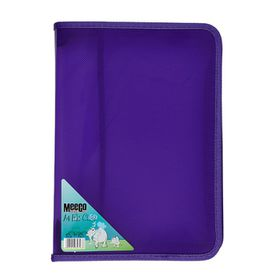 Meeco A4 Zip File Case - Violet