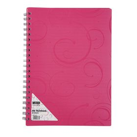 Meeco Creative Collection A4 80 Ruled Sheets Spiral Bound Notebook - Pink