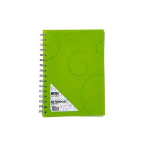 Meeco Creative Collection A5 80 Ruled Sheets Spiral Bound Notebook - Green