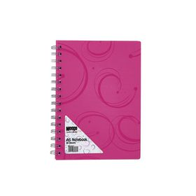 Meeco Creative Collection A5 80 Ruled Sheets Spiral Bound Notebook - Pink