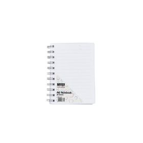 Meeco Creative Collection A6 80 Ruled Sheets Spiral Bound Notebook - White