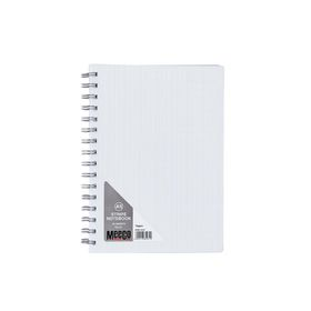 Meeco Executive A5 80 Ruled Sheets Spiral Bound Notebook - White