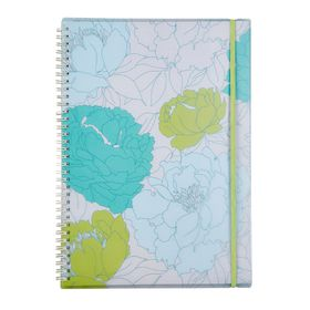 Meeco Floral A4 80 Ruled Sheets Spiral Bound Notebook