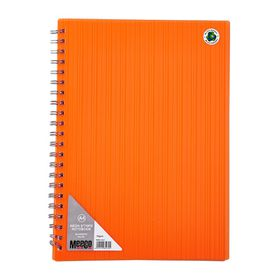 Meeco Neon Stripe A4 80 Ruled Sheets Spiral Bound Notebook - Orange