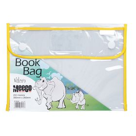 Meeco Book Bag with Velcro Closure - Yellow Piping
