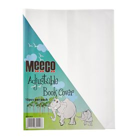 Meeco A4 130 micron Clear Adjustable Book Covers (10 Pack)