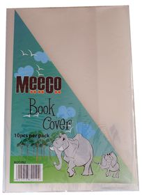 Meeco A4 130 micron Clear Fitted Book Covers (10 Pack)