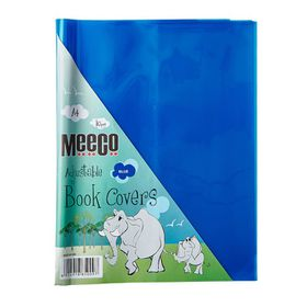 Meeco A4 130 micron Clear Adjustable Book Covers - Blue (10 Pack)