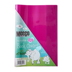 Meeco A4 130 micron Clear Fitted Book Covers - Pink (10 Pack)