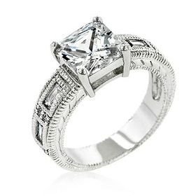 Miss Jewels - 3.00ct Cubic Zirconia Costume Engagement Style Ring