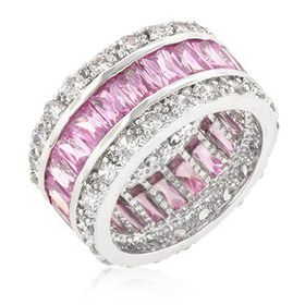Miss Jewels - 8.8ctw Pink Cubic Zirconia Eternity Band