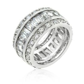 Miss Jewels - 8.8ctw Cubic Zirconia Costume Eternity Band