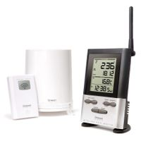 Wireless Rain Gauge with Outdoor Thermometer