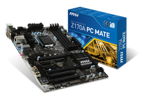 MSI Intel Z170A PC Mate Motherboard - Socket 1151