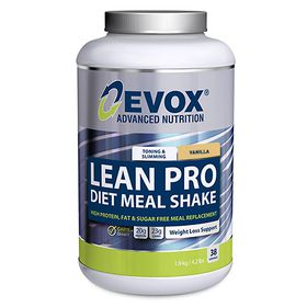 Evox Lean Diet Meal Vanilla - 1.9kg