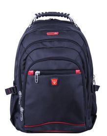 """Tosca Classic Deluxe Steel Handle 15"""" Laptop Backpack - Black"""