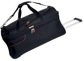 Tosca Gold Ultra Light 70cm Duffel Bag On Wheels - Black/Orange