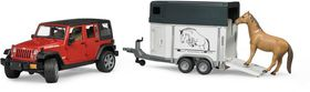 Bruder Jeep Wrangler Unlimited Rubicon with Trailer and Horse