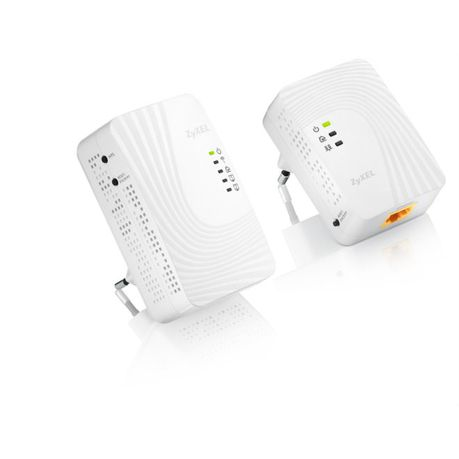 ZyXEL 500 Mbps Powerline Wireless-N Extender (Twin Pack)