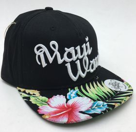 The High Hat Company Maui Waui Cap - Black & Floral Print