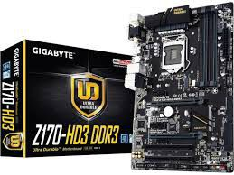 Gigabyte Z170-HD3 ATX Motherboard DDR3 Support - Socket 1151