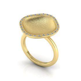 Why Jewellery Mandela Diamond Halo Ring - Yellow Gold