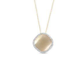 Why Jewellery Mandela Diamond Halo Pendant And Chain - Yellow Gold