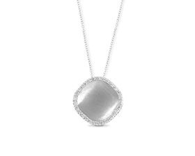 Why Jewellery Mandela Diamond Halo Pendant And Chain - Silver
