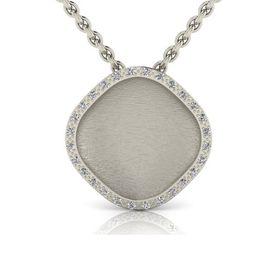 Why Jewellery Mandela Diamond Halo Pendant And Chain - Silver