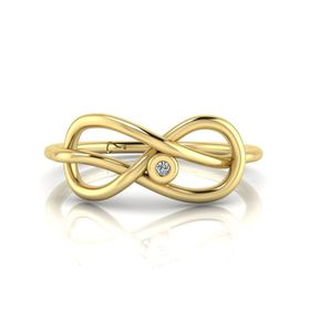 Why Jewellery Infinity Diamond Ring - Yellow Gold (Size: N)