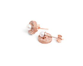 Why Jewellery Halo Diamond and Why Jewellery Pearl Studs - Rose Gold