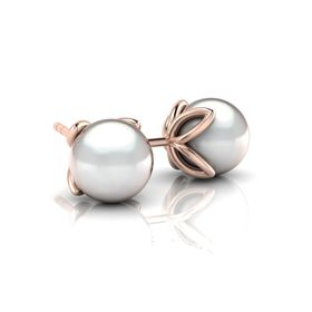Why Jewellery Pearl Studs - Rose Gold