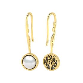 Why Jewellery Pearl Hook Earrings - Yellow Gold