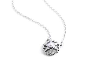 Why Jewellery Pearl Pendant And Chain - Silver