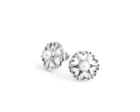 Why Jewellery Pearl Studs - Silver