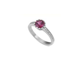 Why Jewellery Rhodolite And Diamond Ring - Silver