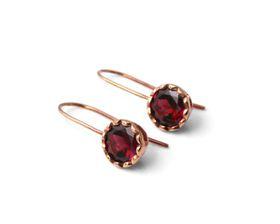 Why Jewellery Rhodolite Hook Earrings - Rose Gold
