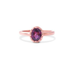Why Jewellery Rhodolite Ring - Rose Gold Plated
