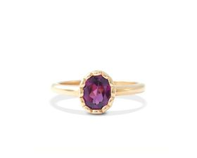 Why Jewellery Rhodolite Ring - Yellow Gold Plated