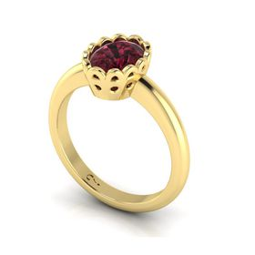 Why Jewellery Rhodolite Ring - Yellow Gold (Size: N)