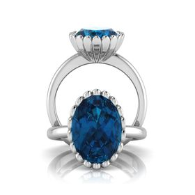 Why Jewellery Topaz Ring - Silver (Size: N)